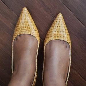 Croc Slingback Heels